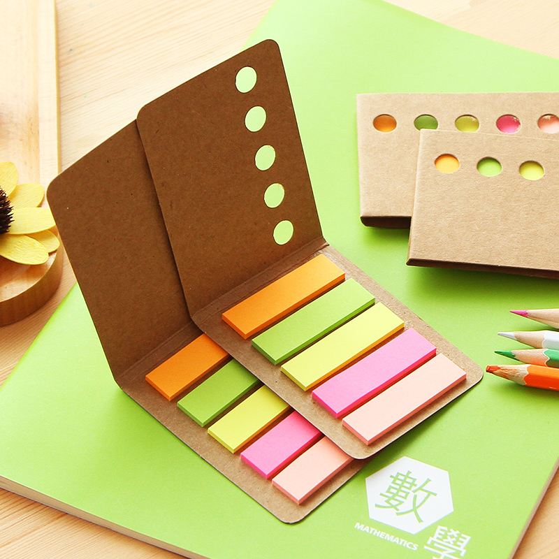 5 Color X 24 Sheets Scrapbooking Planning Sticker Sticky Note Page Index Sticky Note Memo Pad Office Supplies