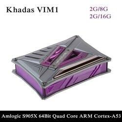 Khadas Vim1 с открытым исходным кодом ТВ коробка Amlogic S905X четырехъядерный Amlogic S905X DIY приставка, поддержка обильной встроенной системы