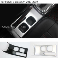 car styling cover stick inside inner middle Shift Stall Paddles cup switch frame trim For Suzuki S cross SX4 2017 2018 2019