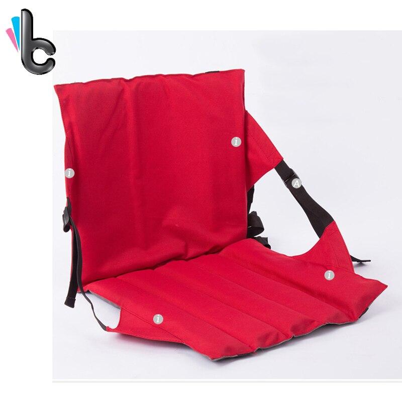 Portable En Plein Air Pliable Chaise Coussin avec Retour Haute Qualité Oxford Tissu Pliage Siège 4 dans Chaises de plage de Meubles