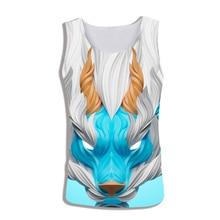 2019 Unicorn Tank Top Men Summer Animal Print Sleeveless 3d Vest Bodybuilding Fitness Clothing Debardeur Homme Musculation