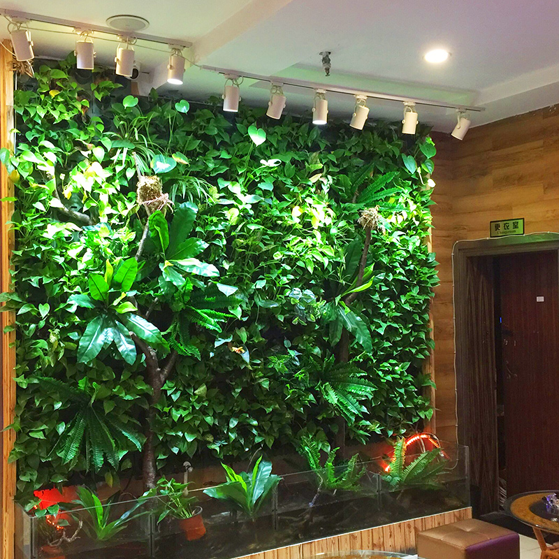 4pcs artificial plants simulation plant wall turf carpets plastic background wall indoor balcony. Black Bedroom Furniture Sets. Home Design Ideas
