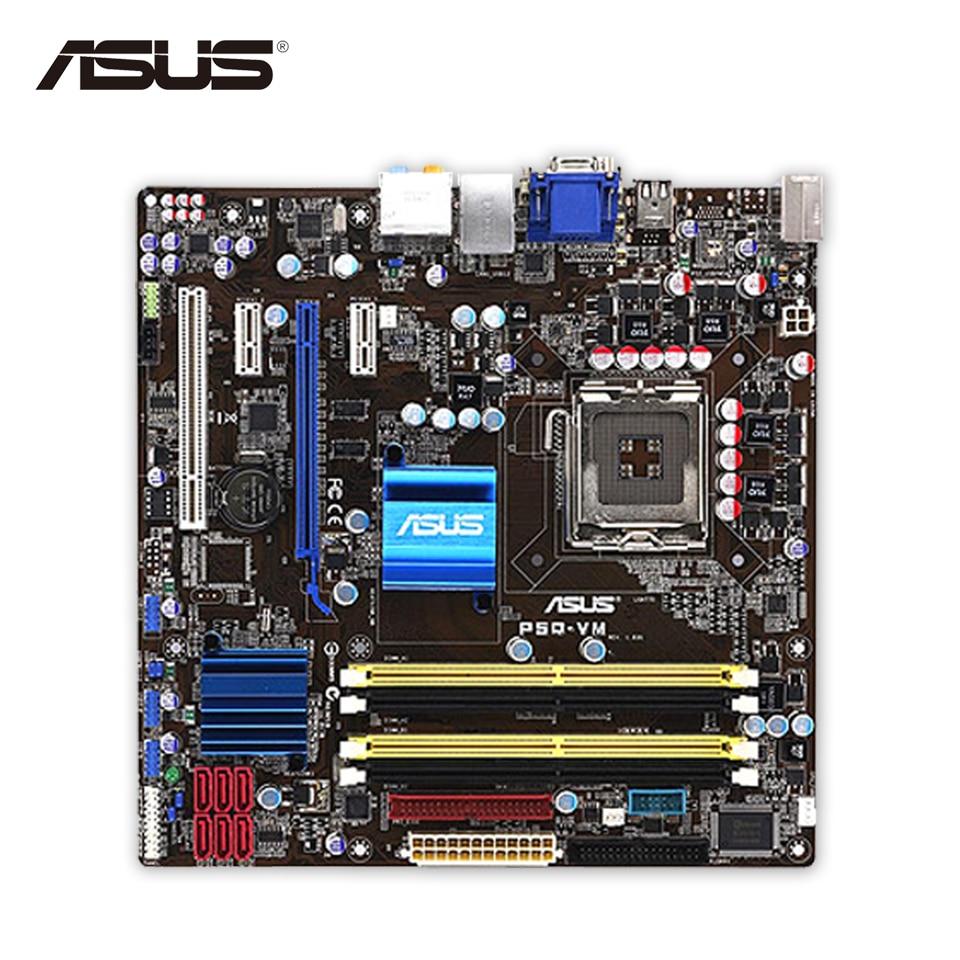 Original Used Asus P5Q-VM Desktop Motherboard G45 Socket LGA 775 DDR2 16G SATA2 USB2.0 uATX 100% Fully Test original used asus p5kpl desktop motherboard g31 socket lga 775 ddr2 sata2 atx 100% fully test