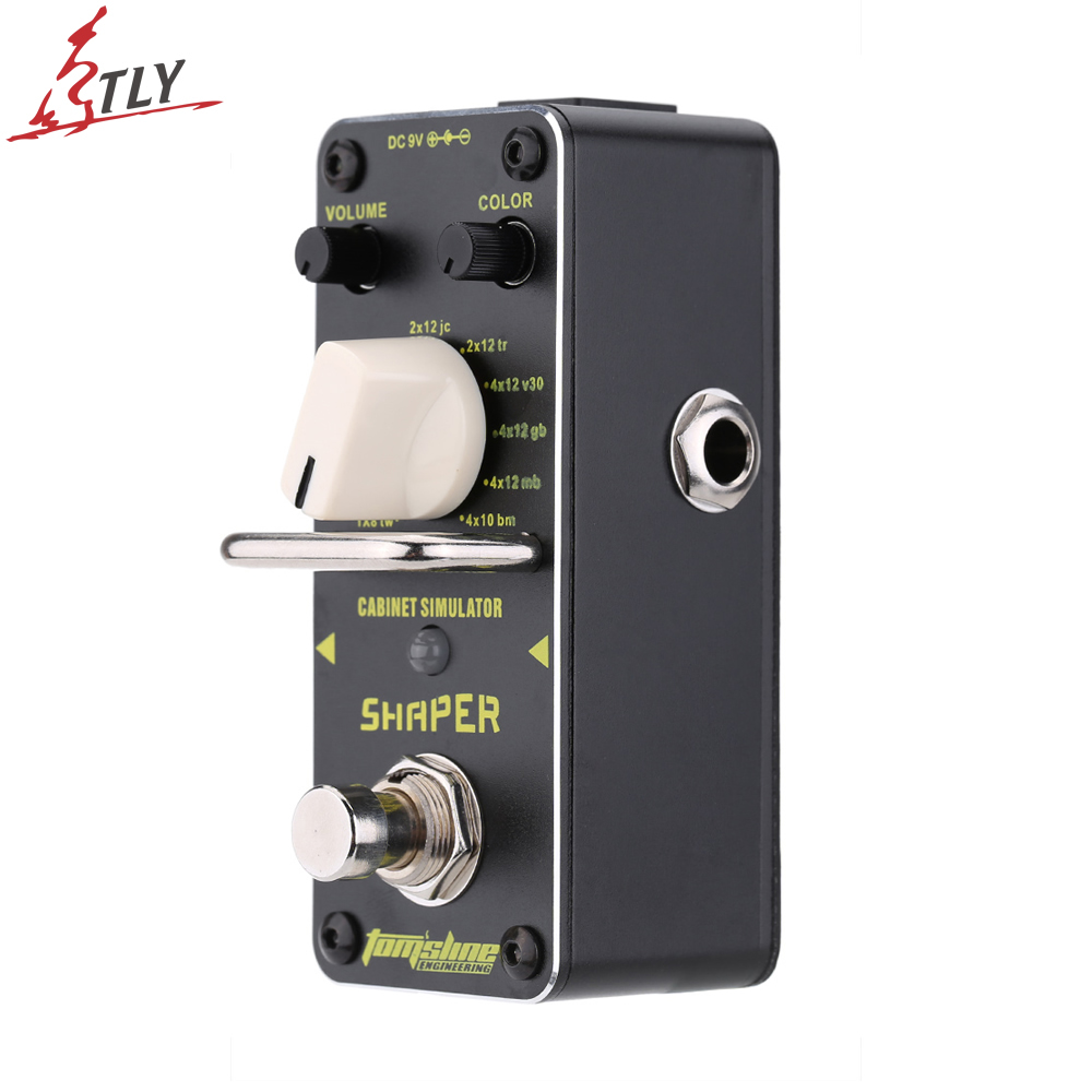 AROMA ASR-3 True Bypass Electric Guitar Effect Pedal Shaper Cabinet Simulator Mini Single Guitarra Effect Pedal aroma asr 3 asr 3 shaper classic cabinet simulator mini digital guitar effect pedal aluminium alloy pedals with true bypass