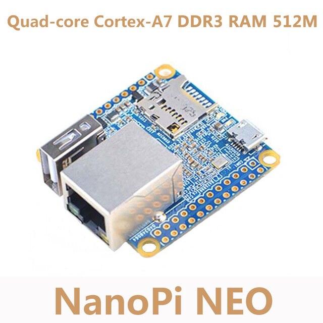 NanoPi NEO Cortex-A7 Development Board Allwinner H3 Open Source 512M DDR3 RAM Quad-core Development Board 100M Ethernet Diy
