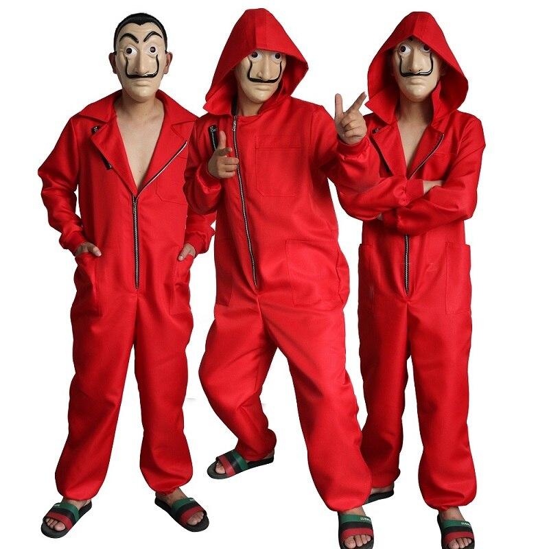 Vriendelijk Bankbiljet Huis Cosplay Halloween Kostuum La Casa De Papelcos Masker Dali Jumpsuit Clown Jurk Stadium Kostuum Betrouwbare Prestaties