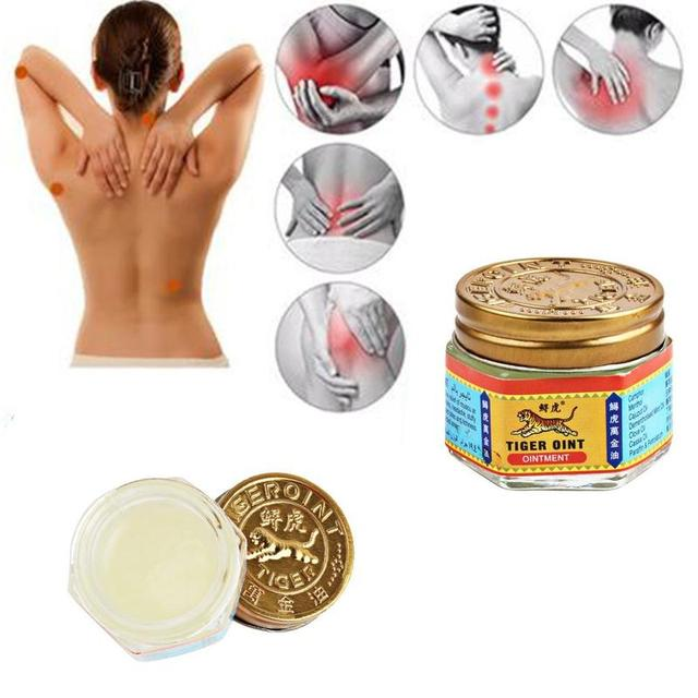 100% Original Thailand Painkiller Ointment White Tiger Balm Ointment Muscle Pain Relief Ointment Soothe itch 5