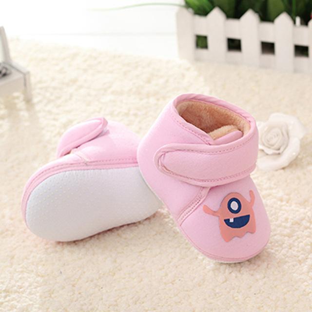 2016 Precioso Bebé Recién Nacido Bebé Zapatos Zapatos de Invierno Inferior Suave antideslizante zapatos Del Niño Primer Caminante Zapatos Mantener Caliente zapatos Fw-1616