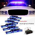 54 LED Emergency Vehicle Strobe Lights Bars Warning Deck Dash Grille Blue