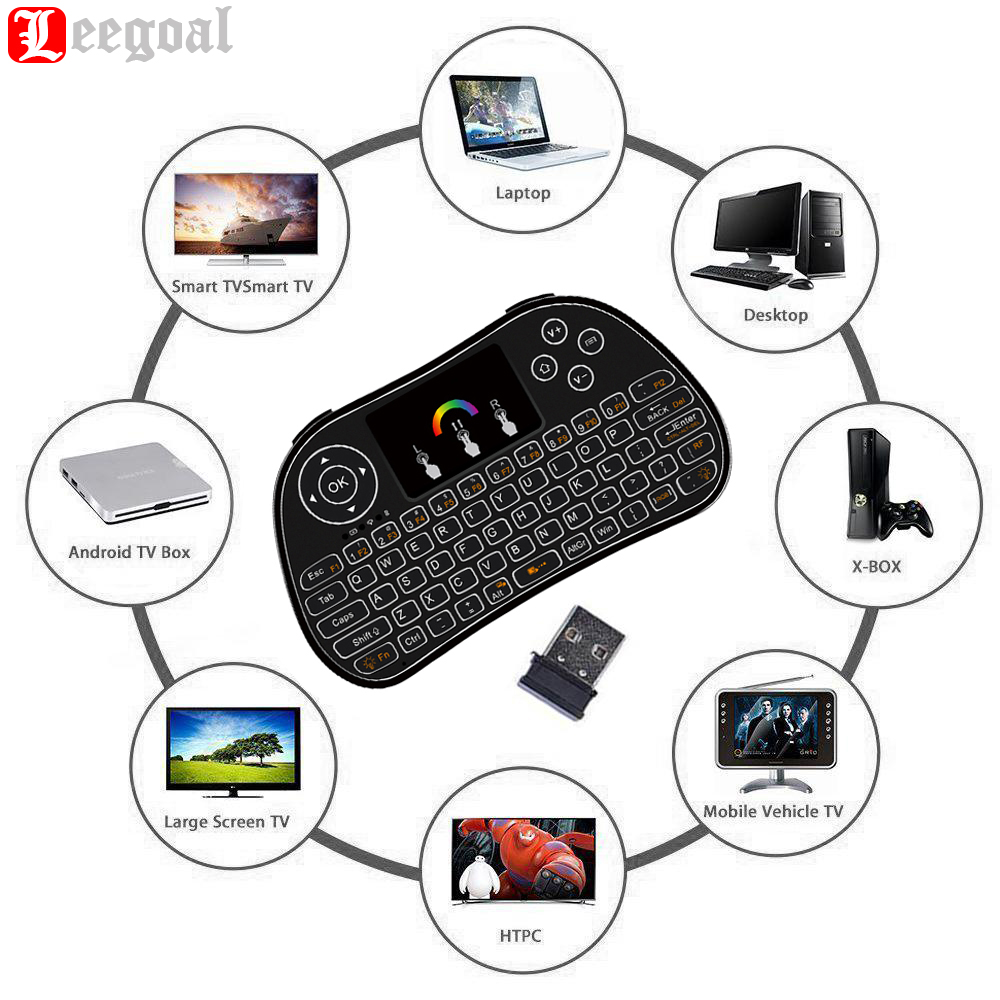 Remote Mini Wireless Keyboard With Touchpad Mouse Combo 2.4Ghz Rechargeable Battery for PC PAD Google Android TV Box Smart TV