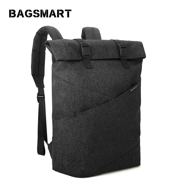 BAGSMART Laptop Backpack Lightweight Travel Daypack Fits 15.6 -Inch Laptop and Notebook Black,Grey,Blue