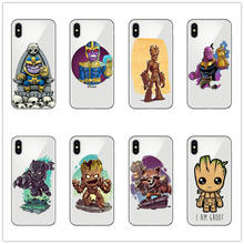 Marvel thanos groots captain america สำหรับ iphone 7 สำหรับ iphone xr x xs สูงสุด 8 6s plus 6 5 5s se clear hard pc coque(China)