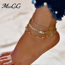 FREE SHIPPING !! Fashion Crystal Set Vintage Handmade Ankle Bracelet JKP1048