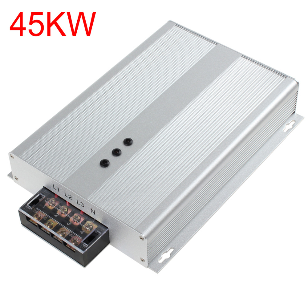Silver 45KW AC 90-400V Intelligent Electricity Saving Box Industrial Power Energy Saver Box Device with Three Phase