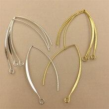 BASEHOME 20 шт. плоские крючки для сережек, французские крючки для сережек, настройки проволоки, базовые настройки для изготовления сережек
