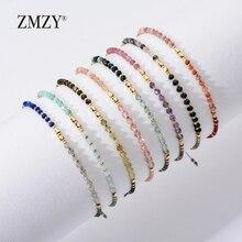 ZMZY модные новые браслеты из бисера с натуральным камнем для женщин, регулируемые разноцветные бусины Miyuki, ювелирные изделия, браслет-цепочка, подарок