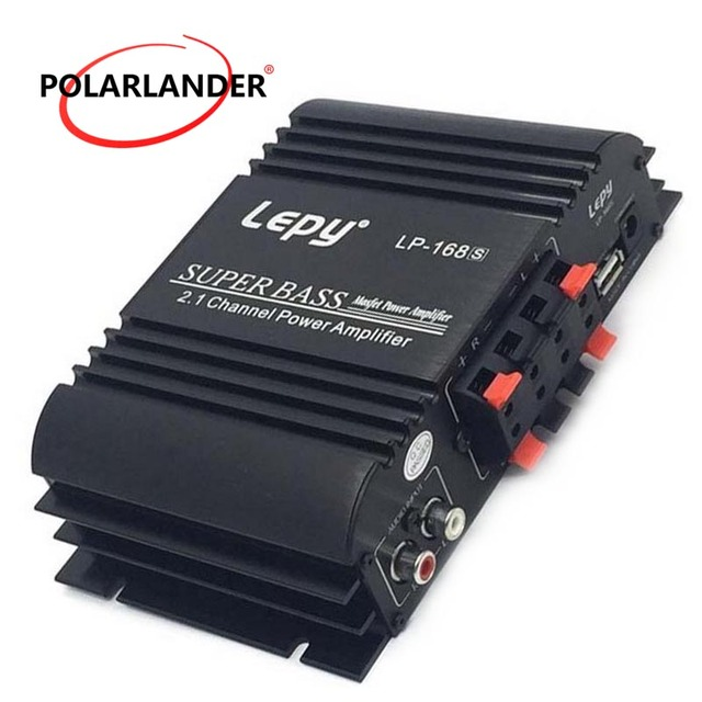 Special Price Lepy LP168S 2.1 Channel Auto Audio Car Amplifier Bass Output HiFi Stereo Sound 12V Power Subwoofer WithAUX Function Loud Speaker