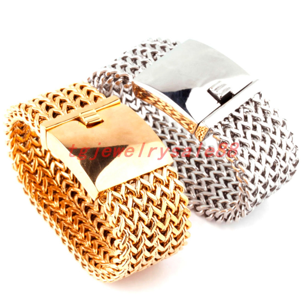 30mm Wide 8.66 Long Heavy Huge Silver Or Gold Color Figaro Rolo Chain Stainless Steel Bracelet Biker Men's Chain Bangle Jewelry 22cm 17mm 316l stainless steel green yellow colors motor bangle jewelry huge heavy men motorcycle biker chain bracelet for boy