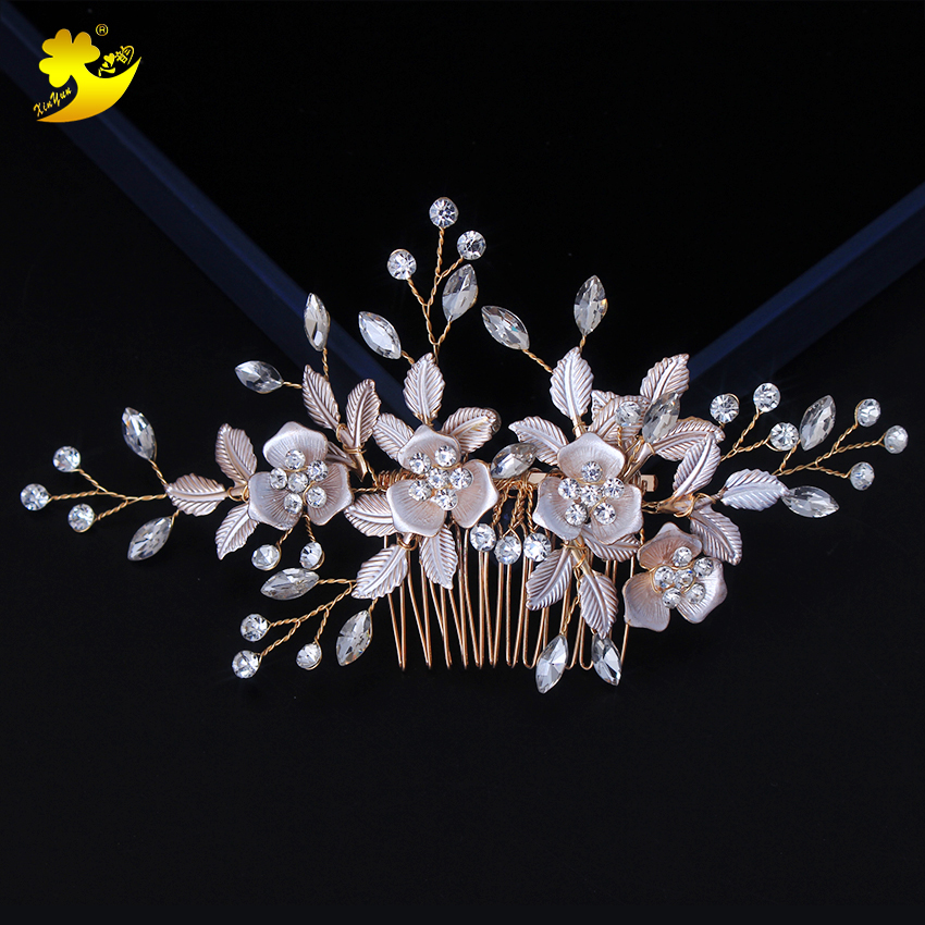 Xinyun Wedding Women Hair Combs Bridal Accessories Fashion Beautiful Jewelry Wedding Elegant Headpiece Bride Simple Jewellery ...
