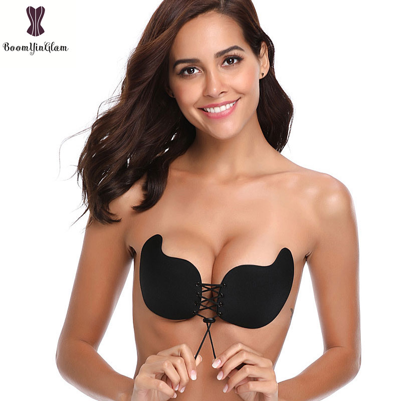 b654e713ea1 Detail Feedback Questions about Black Nude Mango Cup Bra Silicone Seamless  Backless Front Closure Sticky Bras Push Up Wireless Bralette Self adhesive  Women ...