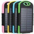 Universal 5000 mah dual usb banco do poder carregador de painel solar do telefone móvel da bateria de alimentação externa para o iphone para xiaomi powerbank