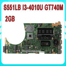 For ASUS S551LB S551LN Laptop motherboard with i3 cpu GT740M 2GB N14P-GV2-S-A1 mainboard Fully Tested&working well