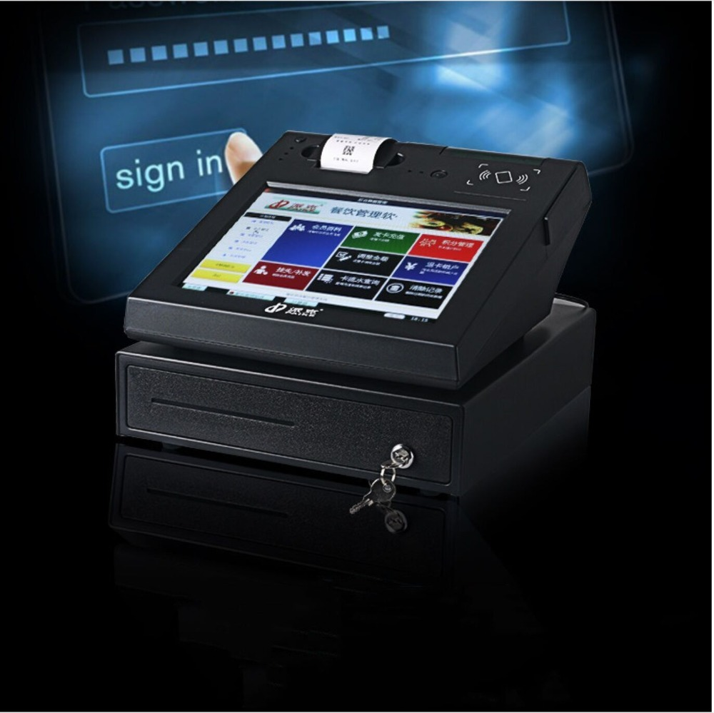 12'' Windows POS Terminal All In One With Capacitive Touch Screen IPS Panel