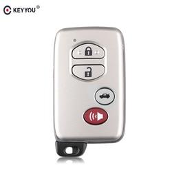 KEYYOU inteligentny zdalny klucz Shell Case Fob 2/3/4 przyciski dla Toyota RAV4 Land Cruiser Prado Camry highlander Prius 2010 2012 2013 w Kluczyki samochodowe od Samochody i motocykle na