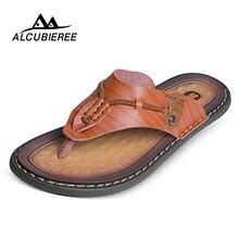 ALCUBIEREE Mäns Casual Skor Slipper Beach Breather Sandals Man Lightweight Antiskid Outdoor Flip Flops Sommar Stor Storlek