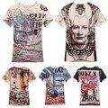 Trendsetter Mostrar 2017 nova Marca dos homens 100% algodão de manga curta t shirt Dos Homens Casual luxuosas Magros T-shirt da camisola M ~ XXL