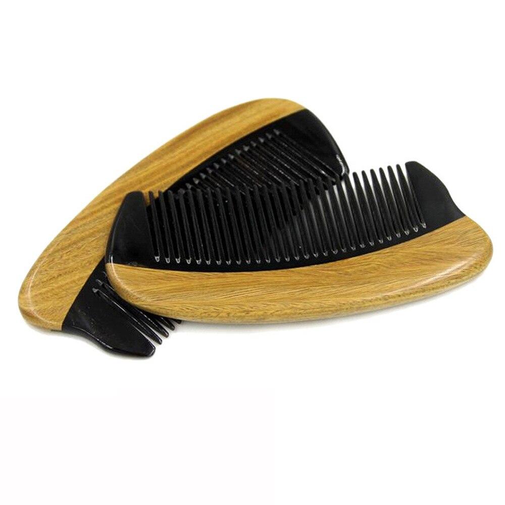 Corne De Poche En Bois Barbe Cheveux Peigne à Dents Fines Naturel de Bois De Santal