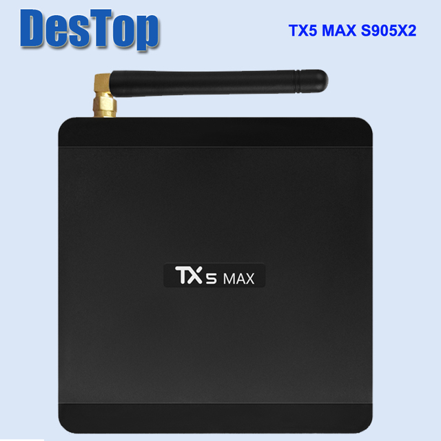 TX5 Max TV Box Amlogic S905X2 Android 8.1 4 GB LPDDR4 32 GB EMMC 2.4 GHz 5 GHz WiFi BT4.2 Support 4 K H.265 décodeur TV Box 50 pcs