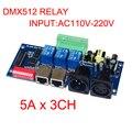 2016 nuevo de alta calidad DMX-RELAY-3channel relés 5A * 3CH DMX512 controlador de entrada AC110v-220V led controlador de decodificador