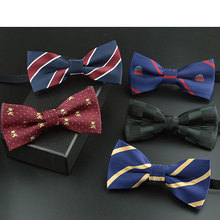 Lovely children bow tie butterfly red black tartan cravat student activities stage performances boys and girls