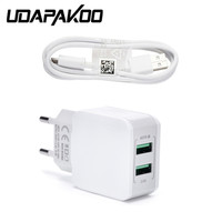 5V 2A 2 USB Port Charger Adapter 1m Micro Usb Quick Charge Cable For Samsung Galaxy