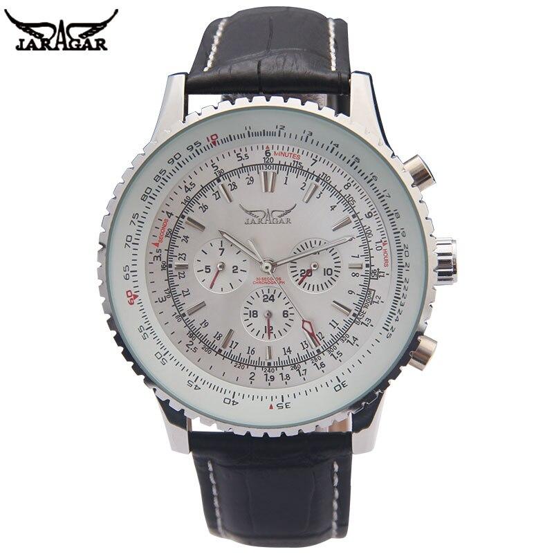 JARAGAR luxe mécanique montres hommes classique automatique 6 broches calendrier grand cadran bracelet montre-bracelet montre homme relojes suizos