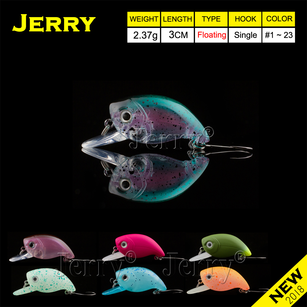 Jerry 3cm trout area spinning fishing lures hard bait plugs lake trout fishing wobbler floating crankbait glowing UV colors цена