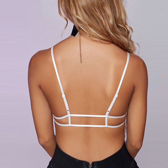 Missomo 2017 New Fashion Women White Sexy Push Up Lace Adjustable Strap Wireless Bralettes Semi-sheer Underwear Soft Trim Bras