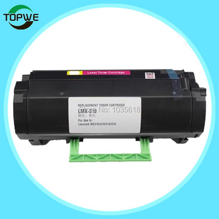 MS410 new compatible toner cartridge for Lexmark MS410d/MS410dn MS510dn MS610DN/MS610DTN/MS610DE/MS610DTE 10K Yield compatible toner chip lexmark ms510 ms610 printer for lexmark ms510dn ms610dn toner refill chip for lexmark 510 610 chip 1 5k