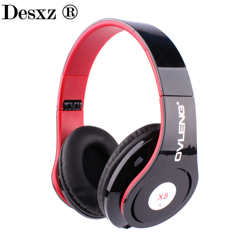 Desxz X8 3.5MM Wired Headphone Super Bass HIFI Headphones Over Ear Stereo Headset With Microphone For The Computer iPhone xiaomi kz headset storage box suitable for original headphones as gift to the customer