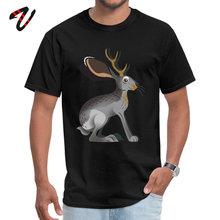 Round Neck Jackalope Odin Men Tshirts Printed Short Skeleton Tops Shirts Wholesale Fitness Tight Tee-Shirts