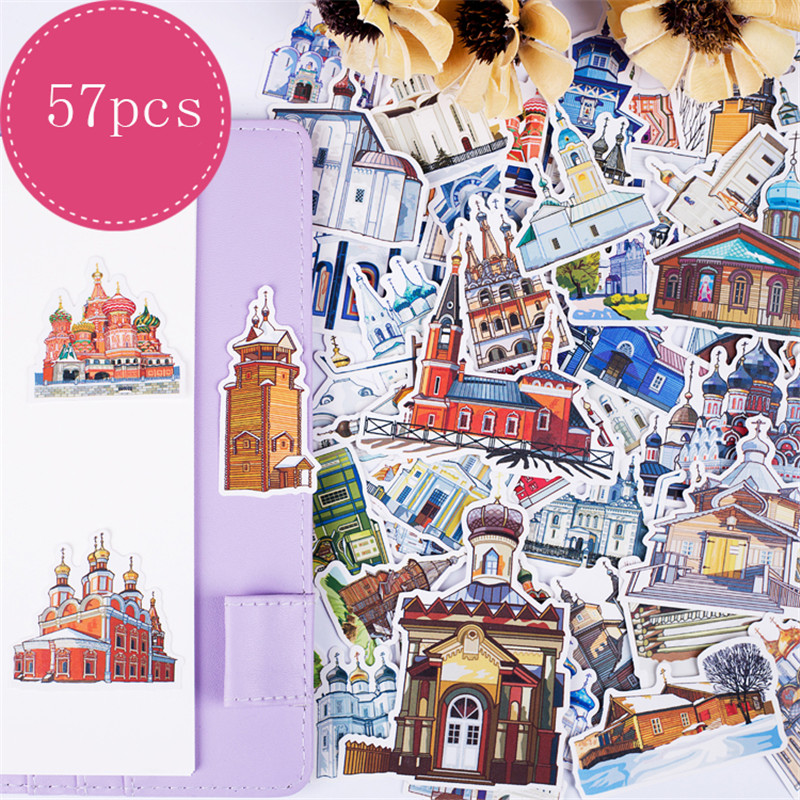 1packs Stickers Scrapbooking Travel Stickers Planner Girls Kawaii