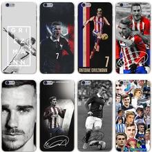 Antoine Griezmann Soccer Star Hard Transparent Cover Case for iPhone 7 7 Plus 6 6S Plus 5 5S SE 5C 4 4S
