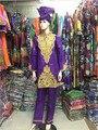 Новая мода базен-тройку традиционных Африканских шарф хлопка длинные брюки (Бесплатная Доставка) HM69