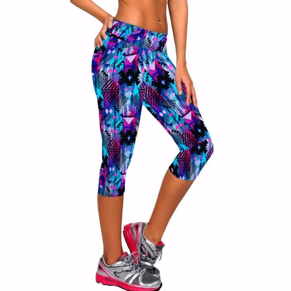8 couleur capri pantalons femmes leggings fitness workout sport yoga pantalon collants running jogging pantalon maigre équipée stretch pantalon
