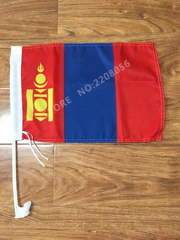 30x45 Cm Mongolei Fenster Auto Flagge Banner Polyester Auto Dekoration Mit Fahnenmast Freies Verschiffen Fahnen, Banner & Zubehör Haus & Garten