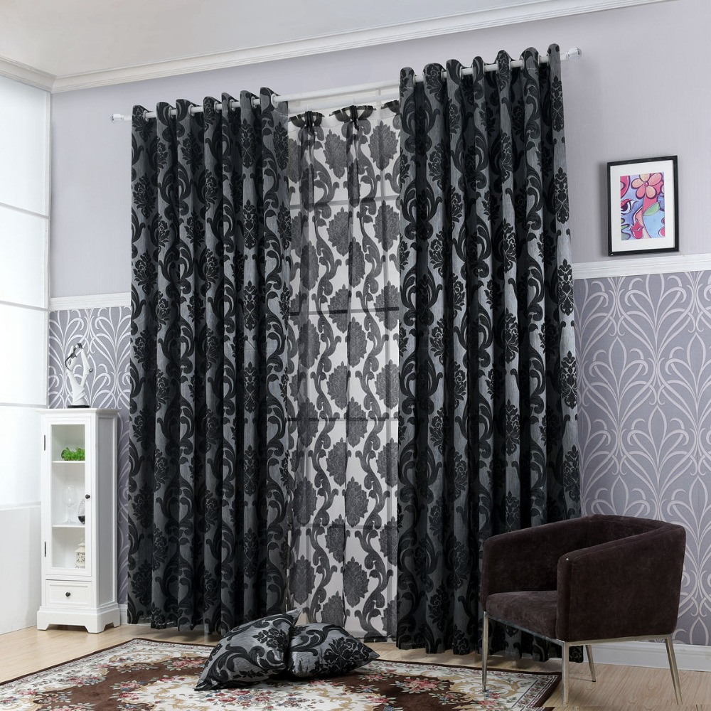 jacquard damask for living room shading curtain curtains cortinas window fabric french home european in treatment coffee item custom blind from textile blackout drapes panel american luxury bedroom