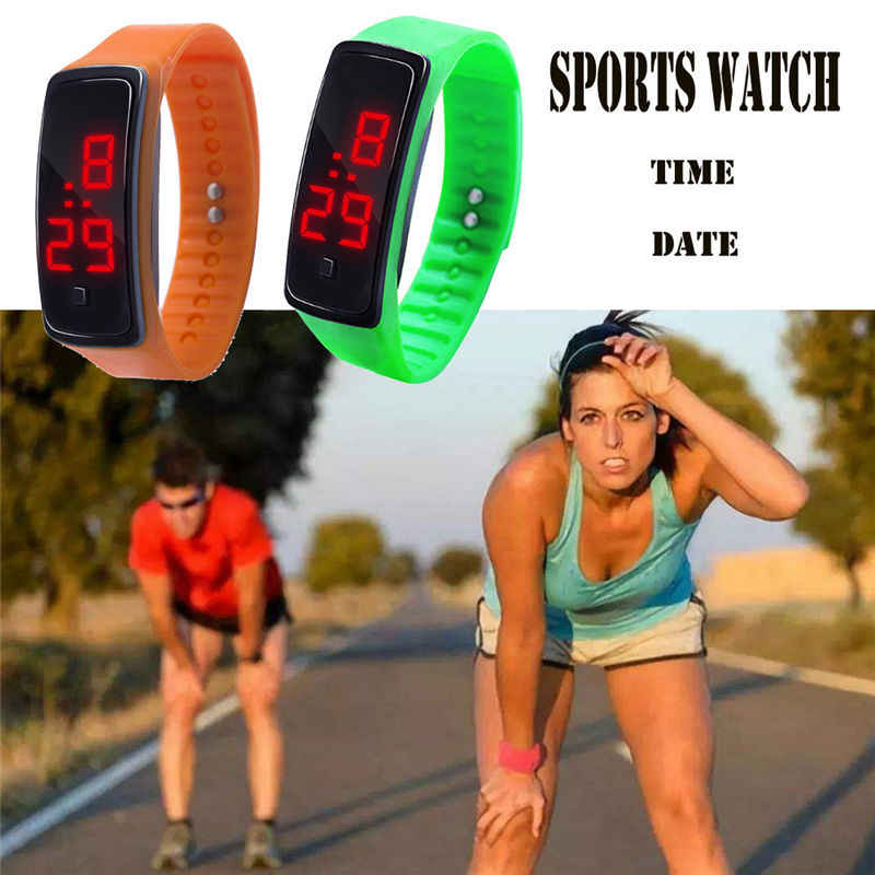 LED Hot Digital Display Bracelet Watch Ladies & Men's Watch Clock Silica Gel Sports Watch