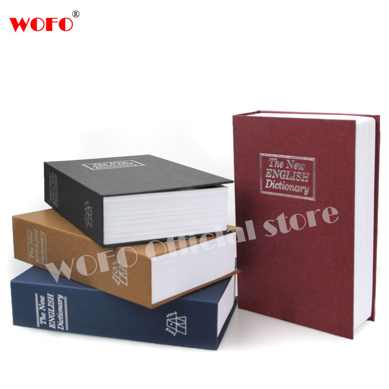 WOFO Book Piggy Bank English Dictionary Safe Deposit Money Box Security Jewelry Vault Cr ...