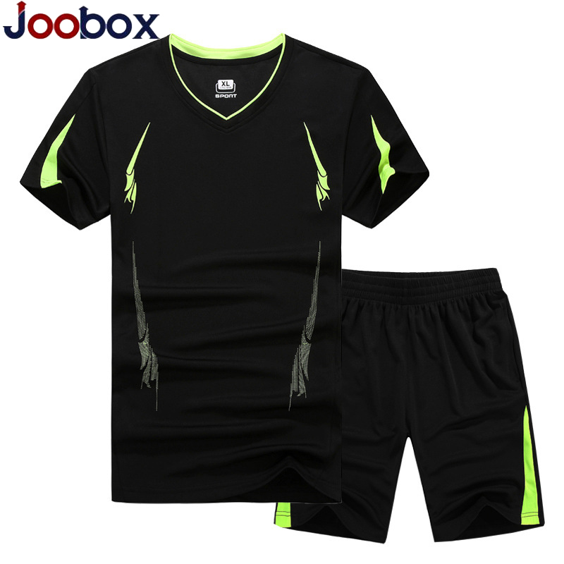 Summer Men Set 2PC Sporting Suit Short Sleeve T Shirt+Shorts Two Piece Set Sweatsuit Quick Drying  Plus Size M~6XL,7XL,8XL,9XL
